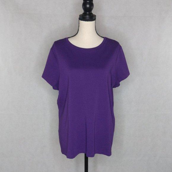 Isaac Mizrahi T-Shirt Size 2X Purple